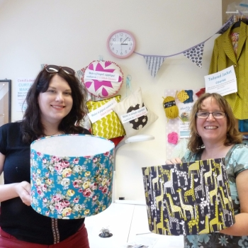 Lampshade sq - Retro Drum Lampshade workshop Sew In Brighton sewing school