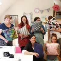 Learn to Use a Sewing Machine course - finished cushions