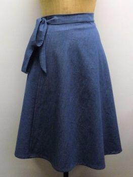 Skirt In A Day denim wrap skirt sew in brighton sewing school 3x4
