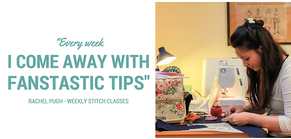 fantastic sewing tips at sew in Brighton sewing school