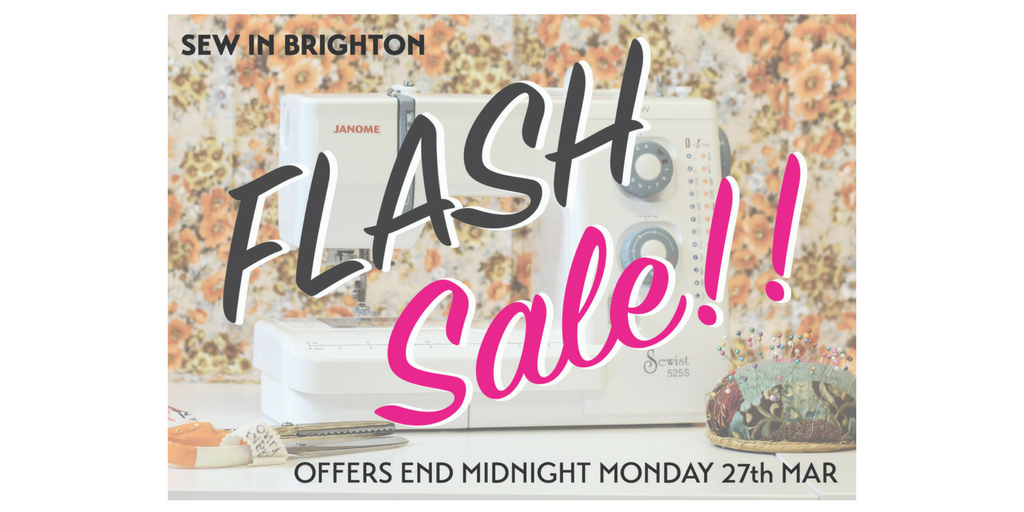 Flash Sale Banner Sew In Brighton March 2017