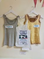 Replicate your clothesVest top brighton sewing school gold