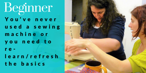 Beginner level sewing courses and classes at Sew In Brighton sewing school