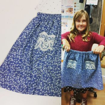 Skirt making childrens sewing classes Brighton and hove