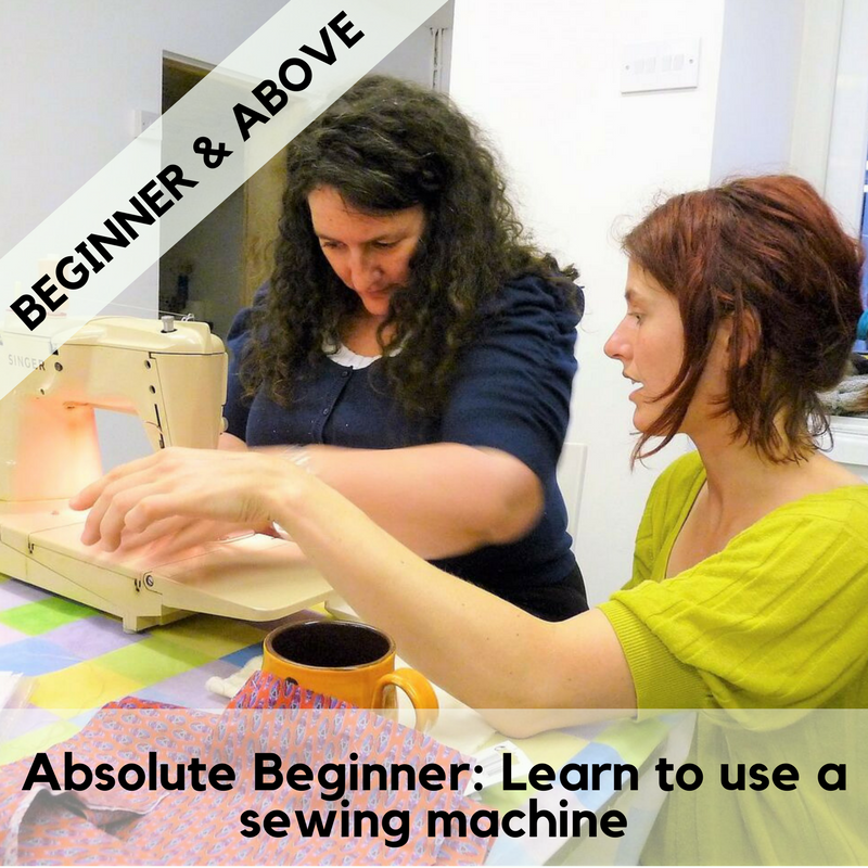 Absolute beginner: learn to use a sewing machine