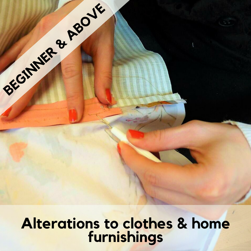 Alterations to clothes and home furnishings