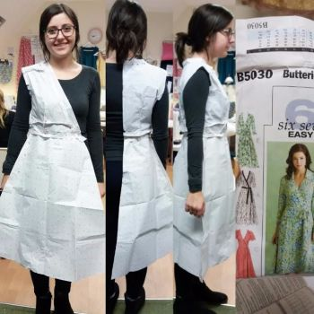 Leigh-anne wrap dress sewing blog classes brighton hove pattern cutting