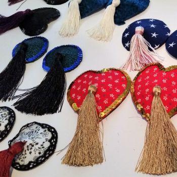 Nipple Tassel making hen party activity Sew In Brighton