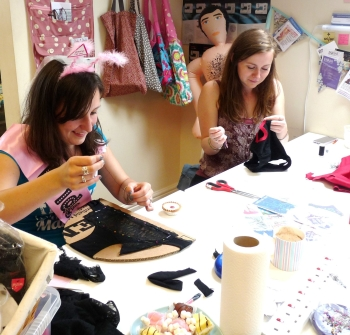 hen party knickers, blow up man, deely boppers, sash and cake