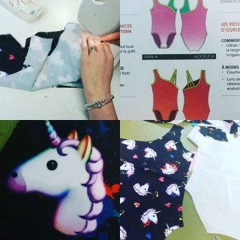 Tracianne leotard making in one to one sewing lessons. Sew In Brighton