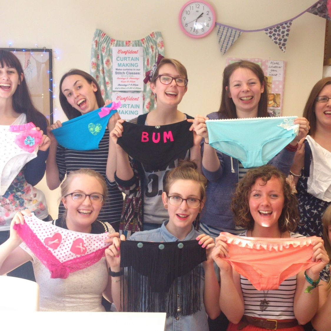 hi res - finished customised knickers. Hen party may 2013