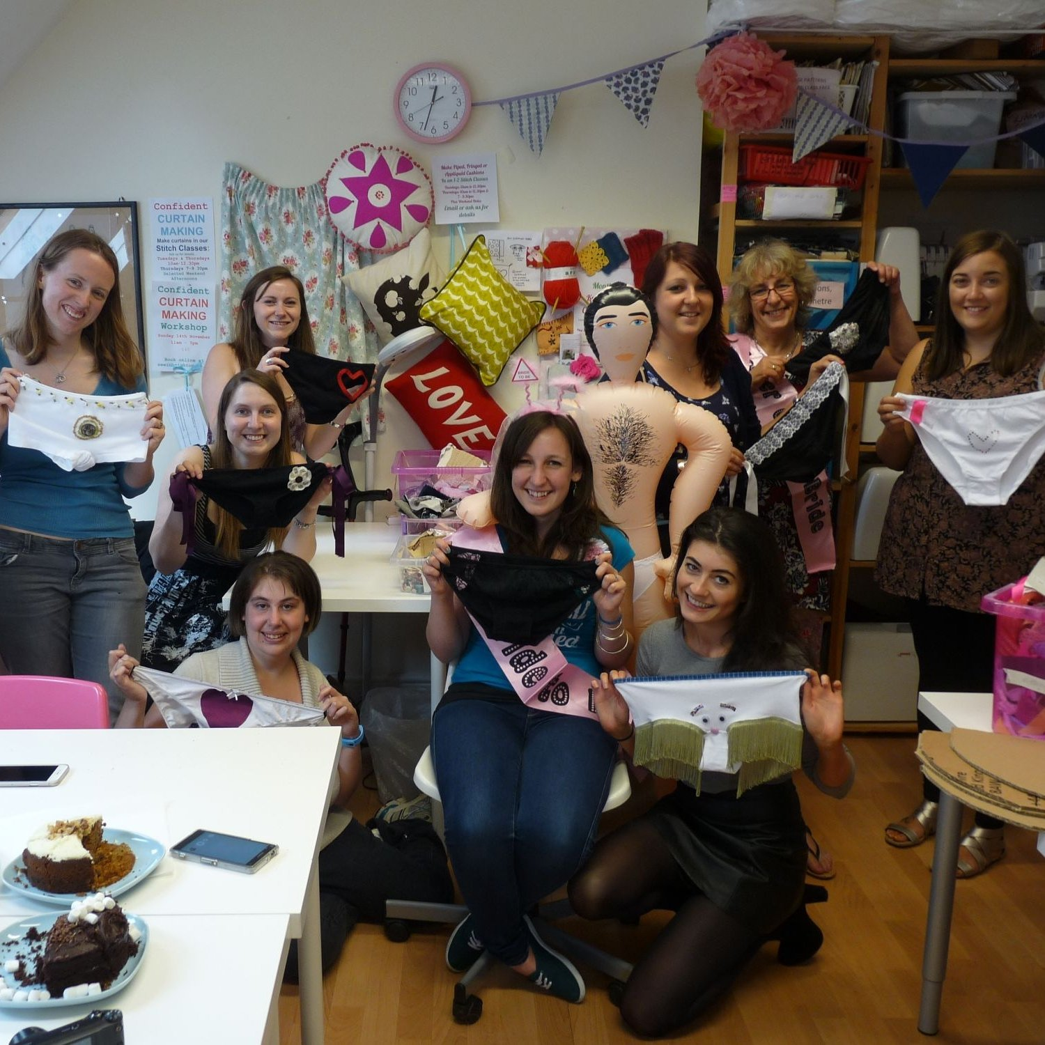 hi res - customised knickers workshop for hen parties - brighton & hove