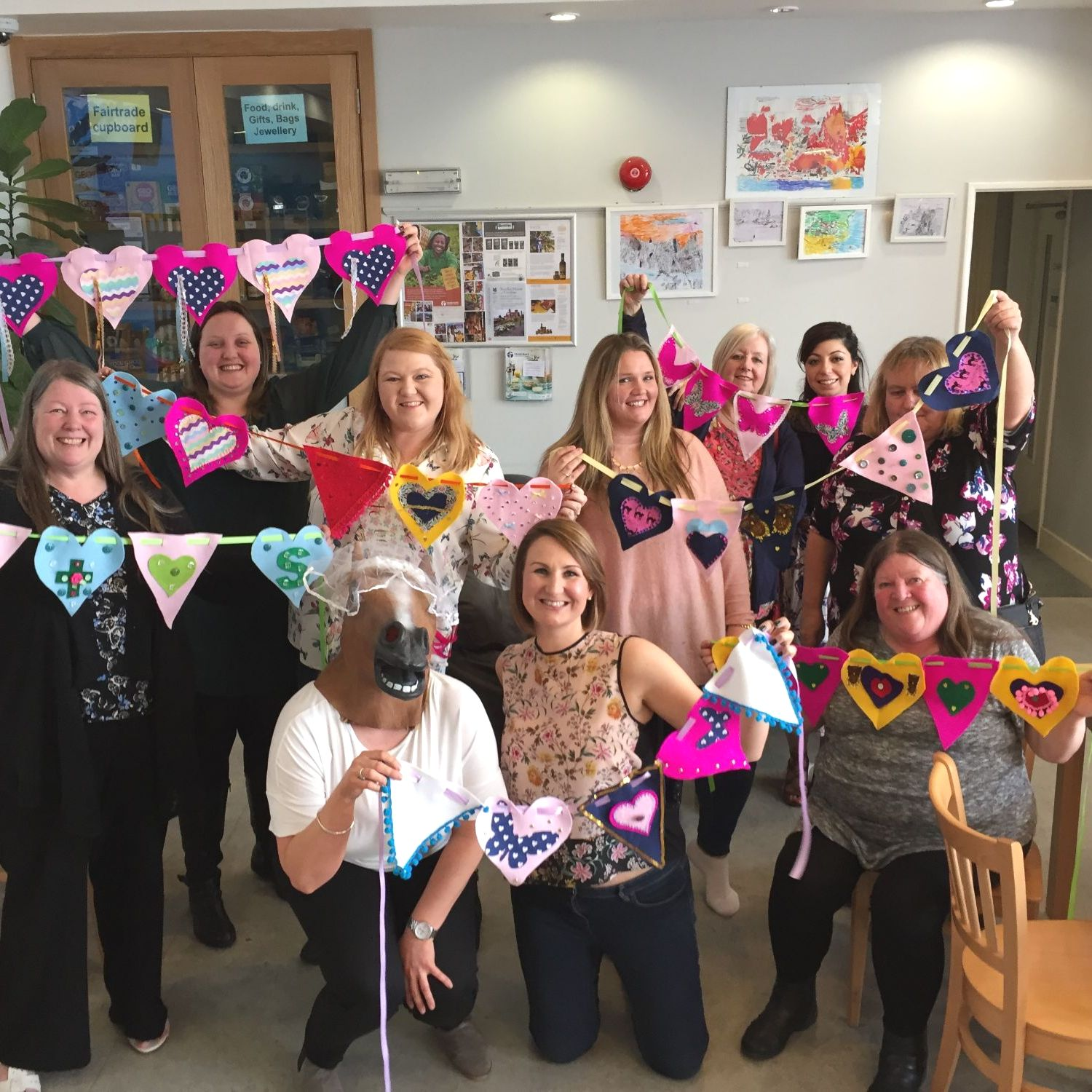 felt bunting hen party April 2016