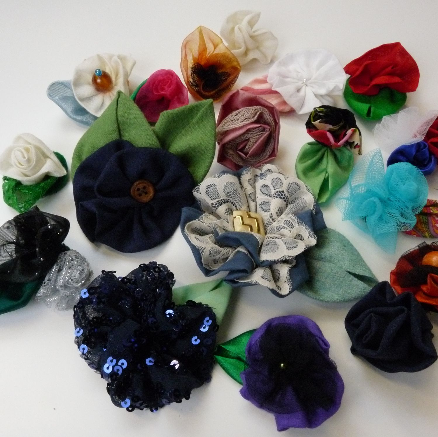 Vintage flower corsages - hen party activity sewing in Brighton