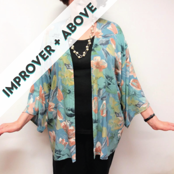 Kimono Jacket: French Seams, Bias Binding & Drapey Fabrics