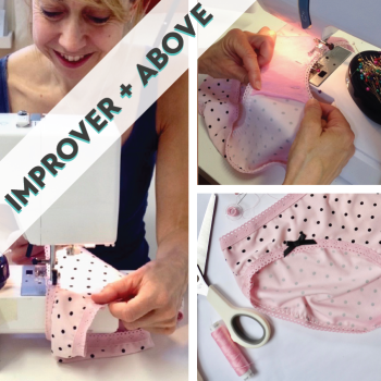 Knicker making: Sew Stretch Fabric, Elastic & Lace