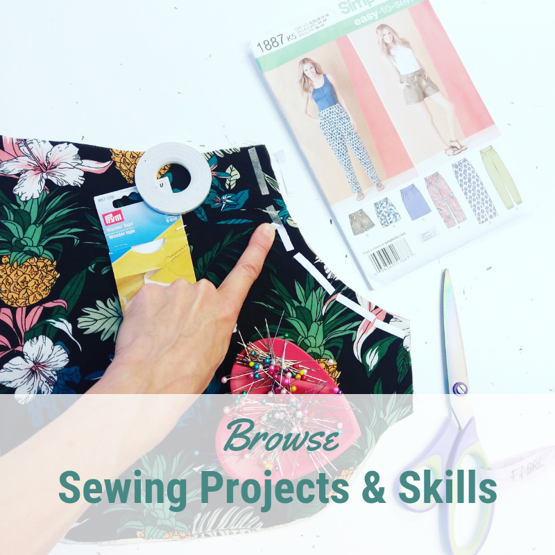 Sewing projects for all levels of sewing student including total beginner - make in sewing classes at Sew In Brighton