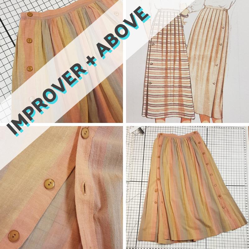Summer Skirt: Buttons, pleats, gathers