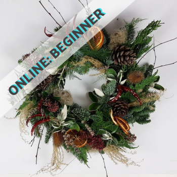 ONLINE Wild Christmas Wreath Making Course