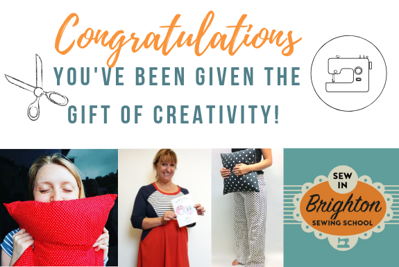 Gift Cards for Sewing Classes at Sew In Brighton