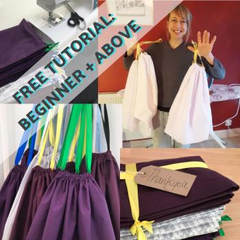 FREE Tutorial: Drawstring Bag to make at home
