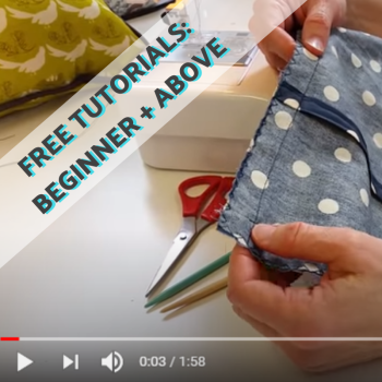 FREE sewing tutorial videos: learn some essential sewing skills at home!