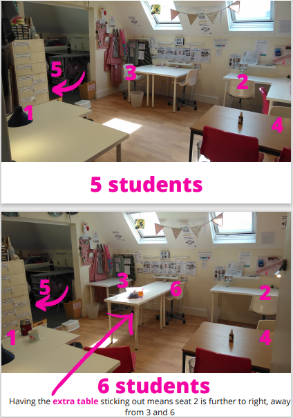 5 and 6 student classroom layouts