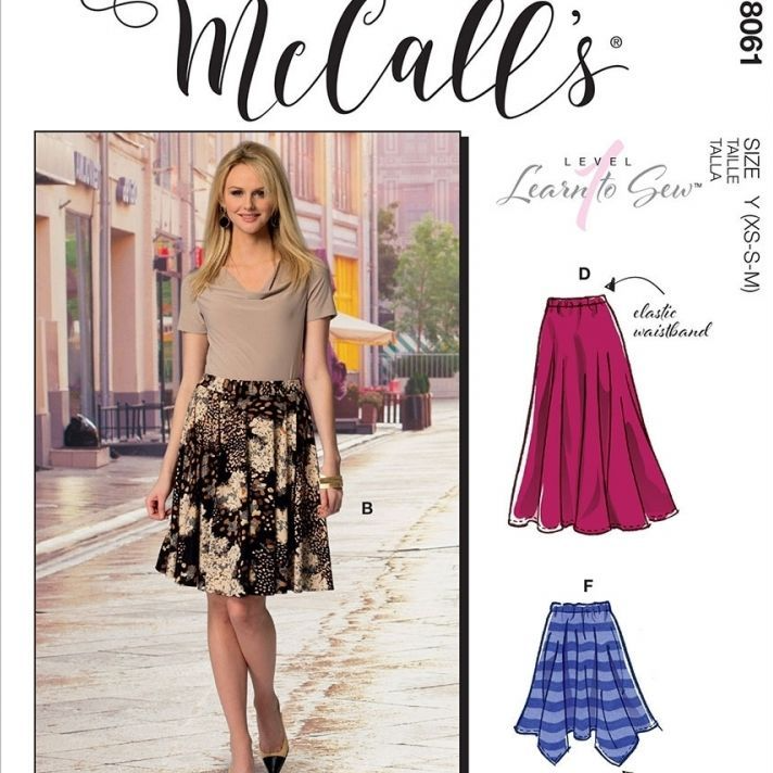 Flared Skirts McCalls Sewing Pattern 8061