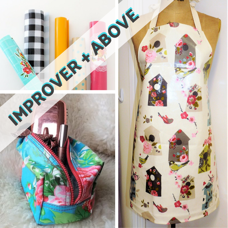 Sewing With Oilcloth - Apron and Zipped Toiletries Bag
