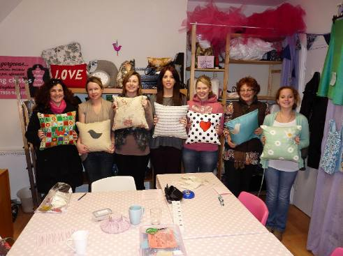 cushion making workshop results