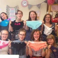 Hen Party - finished customised knickers. hen party may 2013 - resized for