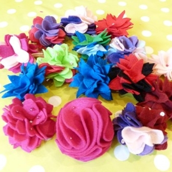 Hen Party felt flowers hen party pic may 2013 - small web size