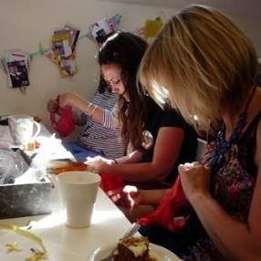 hen party - hens customising knickers - june 29th 2013