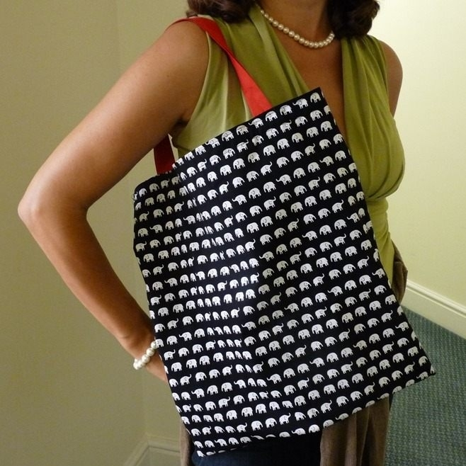 Sew an easy quick tote shopping bag in Sew In Brighton sewing classes