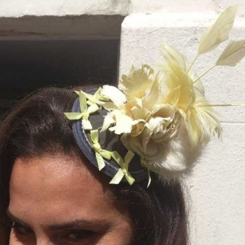 Fascinator yellow