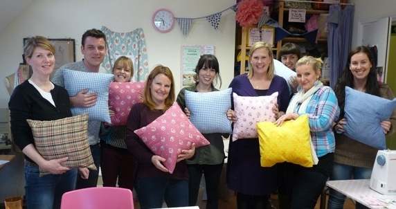 Learn to sew & make easy cushions in Sew In Brighton sewing classes