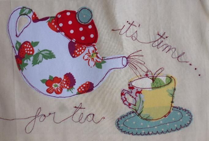 Machine embroidery vs hand makaroka