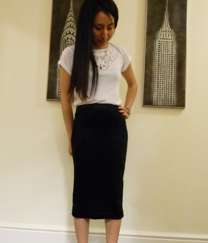 stretch velvet midi pencil skirt 2013 crop2