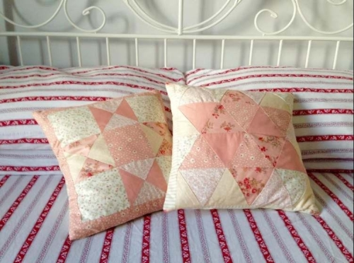 quilting crazy equilateral triangle star cushion by kate mcnab nov 2014