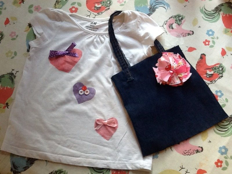kids top and bag