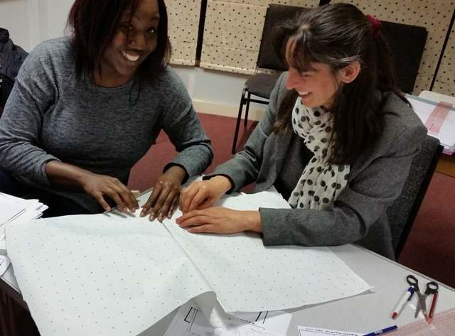 fashion design & pattern cutting course sib - amanda and emma learn to