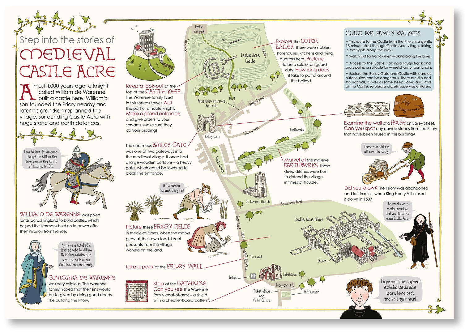 Blackbird Publishing English Heritage Castle Acre family activity trail map