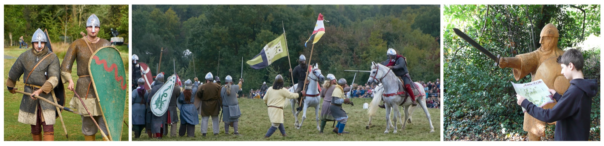 Blackbird Publishing English Heritage Battle Abbey Anniversary Reenaactment Battle of Hastings 1066 footer