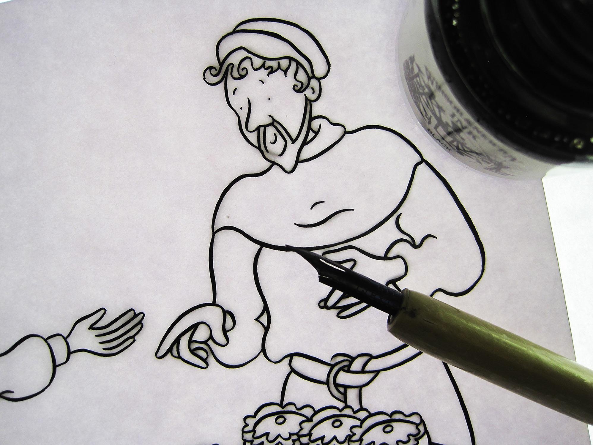 Blackbird Publishing  Inking Illustrations