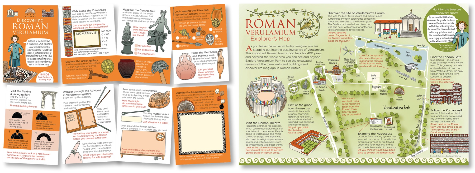 Blackbird Publishing Family Activity Trails Fold-out Booklet with Picture  Map Verulamium Museum