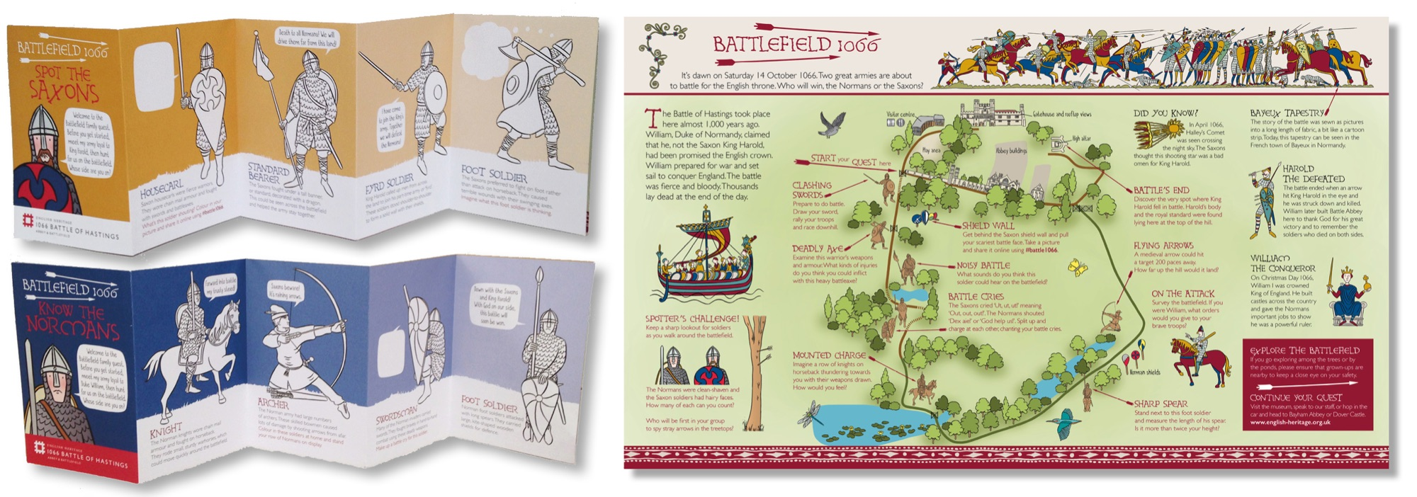 Blackbird Publishing Family Activity Trails Fold-out Booklet with Picture  Map English Heritage Battle