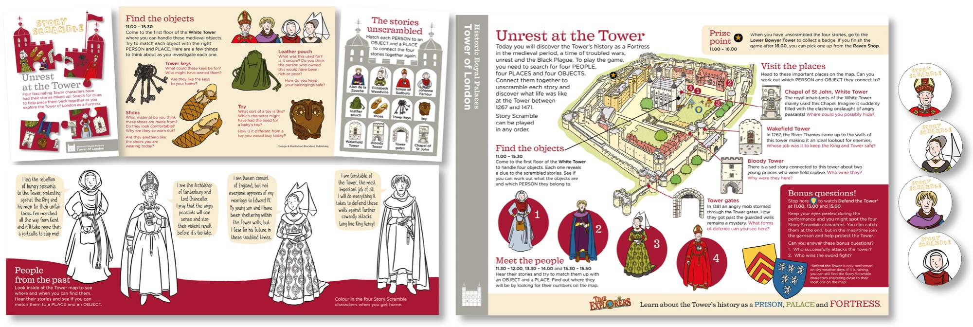 Blackbird Publishing Family Activity Trail Fold-out Booklet with Picture  Map Historic Royal Palaces Tower of London
