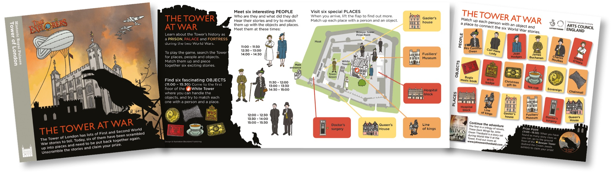 Blackbird Publishing Family Activity Trails Lift-the-flap Activity Game Leaflet Historic Royal Palaces Tower of London
