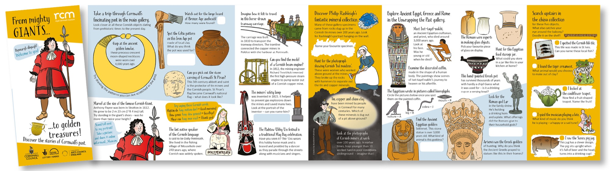 Blackbird Publishing Family Activity Trails Fold-out Activity Leaflet Royal Cornwall Museum