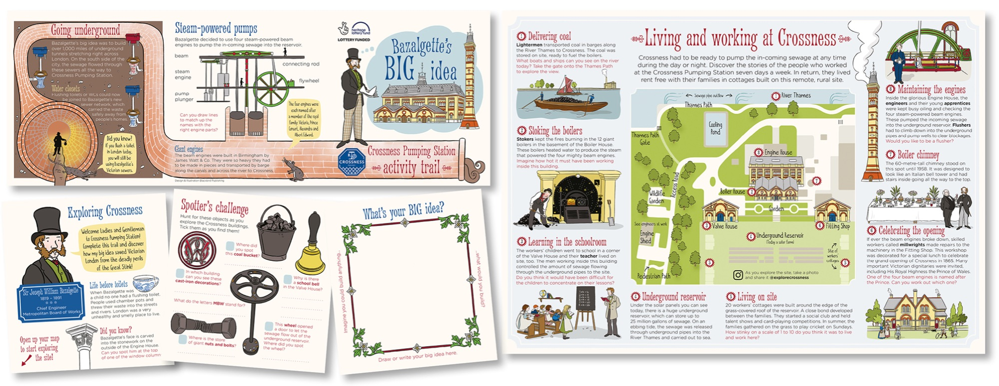 Blackbird Publishing Family Activity Trails Fold-out Booklet with Picture  Map Crossness Pumping Station